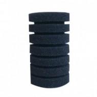 Губка Resan фильтрационная цилиндрическая среднепористая рифленая 35ppi, 8х14см