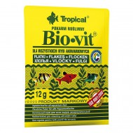 Корм Tropical Bio-Vit хлопья для травоядных рыб, 12г