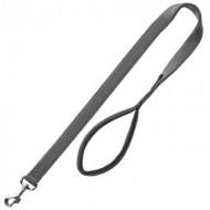 Нейлоновый поводок для собак Trixie Premium XS 1,20 м / 10 мм неопреновая петля, серый
