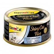 Влажный корм для кошек GimCat Shiny Cat Filet 70 г, с тунцом и анчоусом
