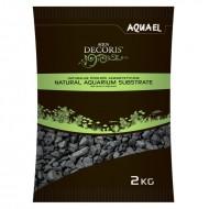 Грунт для аквариума Aquael черный мелкий 2-4мм, базальт 2 кг
