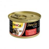Влажный корм для кошек GimCat Shiny Cat in Jelly 70 г, с тунцом и лососем