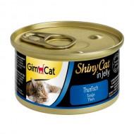 Влажный корм для кошек GimCat Shiny Cat in Jelly 70 г, с тунцом