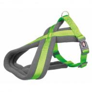 Trixie Шлея для собак Trixie Premium M 45–70 см / 25 мм нейлоновая, туристическая, ярко-зелёная