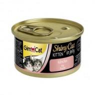 Gimpet Влажный корм для котят GimCat Shiny Cat Kitten in Jelly 70 г, с курицей