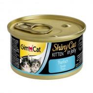 Gimpet Влажный корм для котят GimCat Shiny Cat Kitten in Jelly 70 г, с тунцом