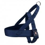 Шлея для собак Trixie Premium S-M 30-50 см / 25 мм  нейлоновая, норвежская, синяя