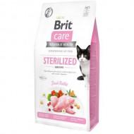Сухой корм для стерилизованных кошек с чувствительным пищеварением Brit Care Cat GF Sterilized Sensitive 7 кг (кролик)