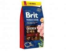 Сухой корм Brit Premium Adult L 15+3 kg (для взрослых собак крупных пород)