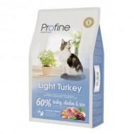 Корм для кошек Profine Cat Light 10 кг с лишним весом, с индейкой и курицей