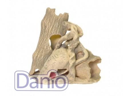 Природа Декорация керамическая ТМ Природа Два бревна с амфорой 23х23 - Картинка 1