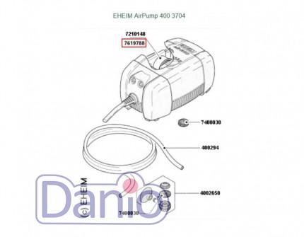 Ремкомплект Eheim мембрана с магнитами для компрессоров Air Pump