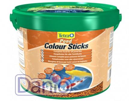 Корм Tetra Pond Colour Sticks 10л/1.9кг плавающие гранулы для ок