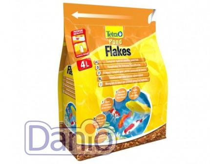 Корм Tetra Pond Flakes 4л смесь хлопьев для мелких рыб