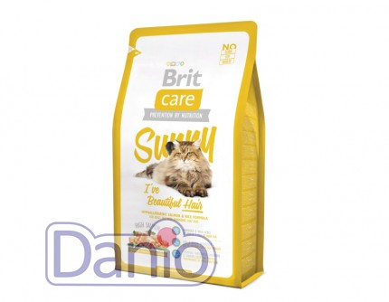 Сухой корм Brit Care Cat 2 кг Sunny I have Beautiful Hair для зд