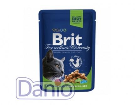 Консервы Brit Premium Cat pouch 100 г курица для стерилизованных