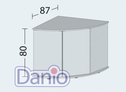 Juwel Аквариумная тумба Juwel Trigon 350 угловая 123x87x80 см, белая - Картинка 2