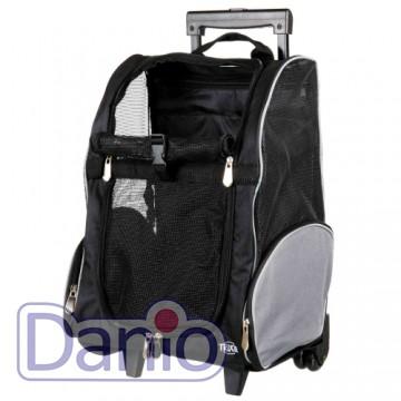 Trixie Сумка-рюкзак для маленьких животных Trixie T-Bag Trolley на колёсах до 8 кг, черный - Картинка 1