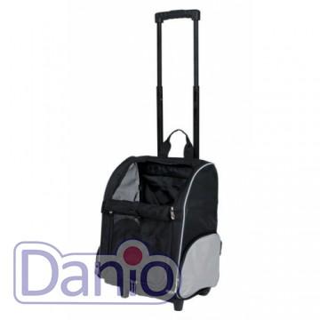Trixie Сумка-рюкзак для маленьких животных Trixie T-Bag Trolley на колёсах до 8 кг, черный - Картинка 2
