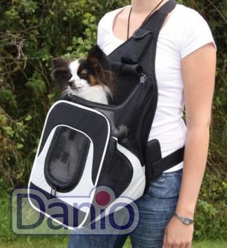 Trixie Сумка-переноска для маленьких животных Trixie Savina Front Carrier до 10 кг, серая - Картинка 1