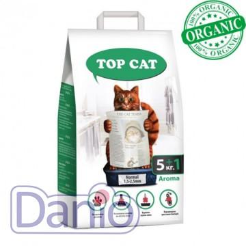 Top Cat (Украина) Наполнитель бентонитовый Top Cat normal 5+1 килограмм для кошек, (1,5 - 2,5 мм) с лавандой - Картинка 1