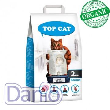 Top Cat (Украина) Наполнитель бентонитовый Top Cat maxi 2 килограмма для кошек, (2,5 - 5,5 мм) с лавандой - Картинка 1