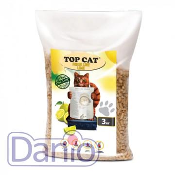 Top Cat (Украина) Наполнитель древесный Top Cat FreshLine Lime 3 килограмма для кошек с лимоном - Картинка 1