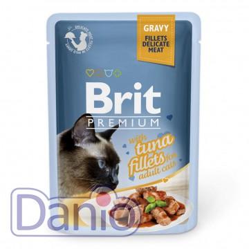Влажный корм для кошек Brit Premium Cat Tuna Fillets Gravy