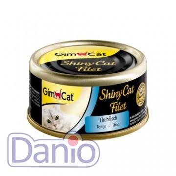 Влажный корм для кошек GimCat Shiny Cat Filet 70 г, с тунецом