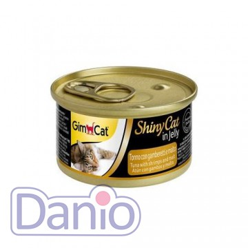 Влажный корм для кошек GimCat Shiny Cat in Jelly 70 г, с тунецом