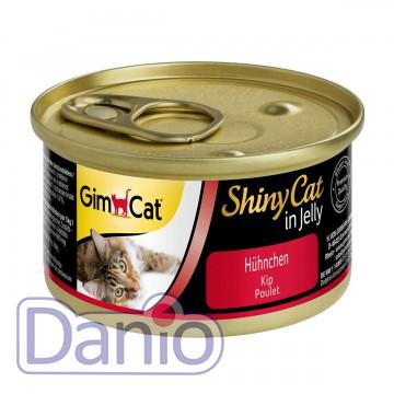 Влажный корм для кошек GimCat Shiny Cat in Jelly 70 г, с курицей