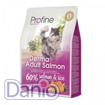 Корм для кошек Profine Cat Derma 2 кг для длинношерстных, с лосо