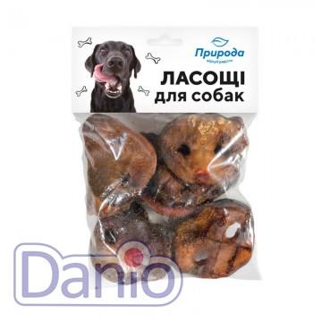 Лакомство для собак ТМ Природа 100 грамм свиные пятаки